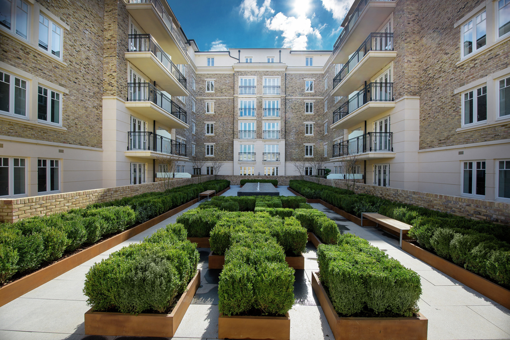 Landscaped Central Courtyard