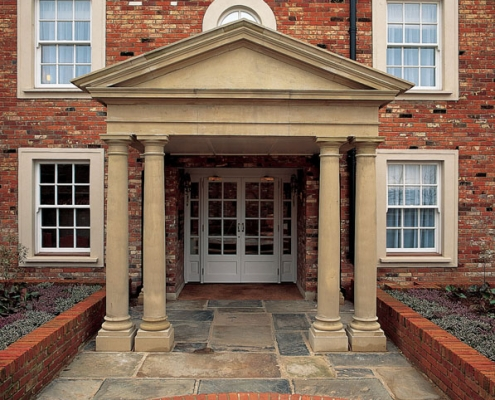 Pedimented Portico by Haddonstone