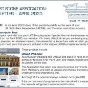UKCSA Newsletter 2020 April